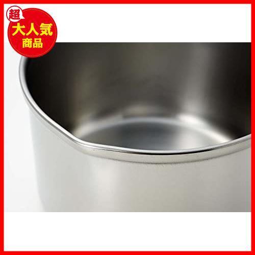 【残り1点】ステンレス IH対応 デイズキッチン 13cm MM-KI 日本製 ミルクパン H-5171 パール金属_画像3