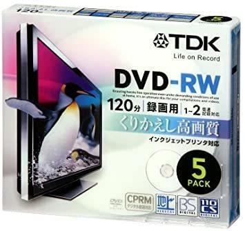 新品 TDK 録画用DVD-RW デジタル放送録画対応(CPRM) インクジェットプリンタ対応 1-2倍速 5mmスXSAA_画像1