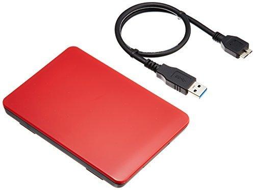 レッド USB3.0 玄人志向 SSD/HDDケース(レッド) 2.5型 USB3.0接続 ACアダプター不要/ネジ止め不要/3_画像9