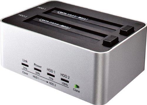 銀 クローン機能あり 玄人志向 SSD/HDDスタンド 2.5型&3.5型対応 USB3.0接続 PCレスでボタン1つ、_画像1