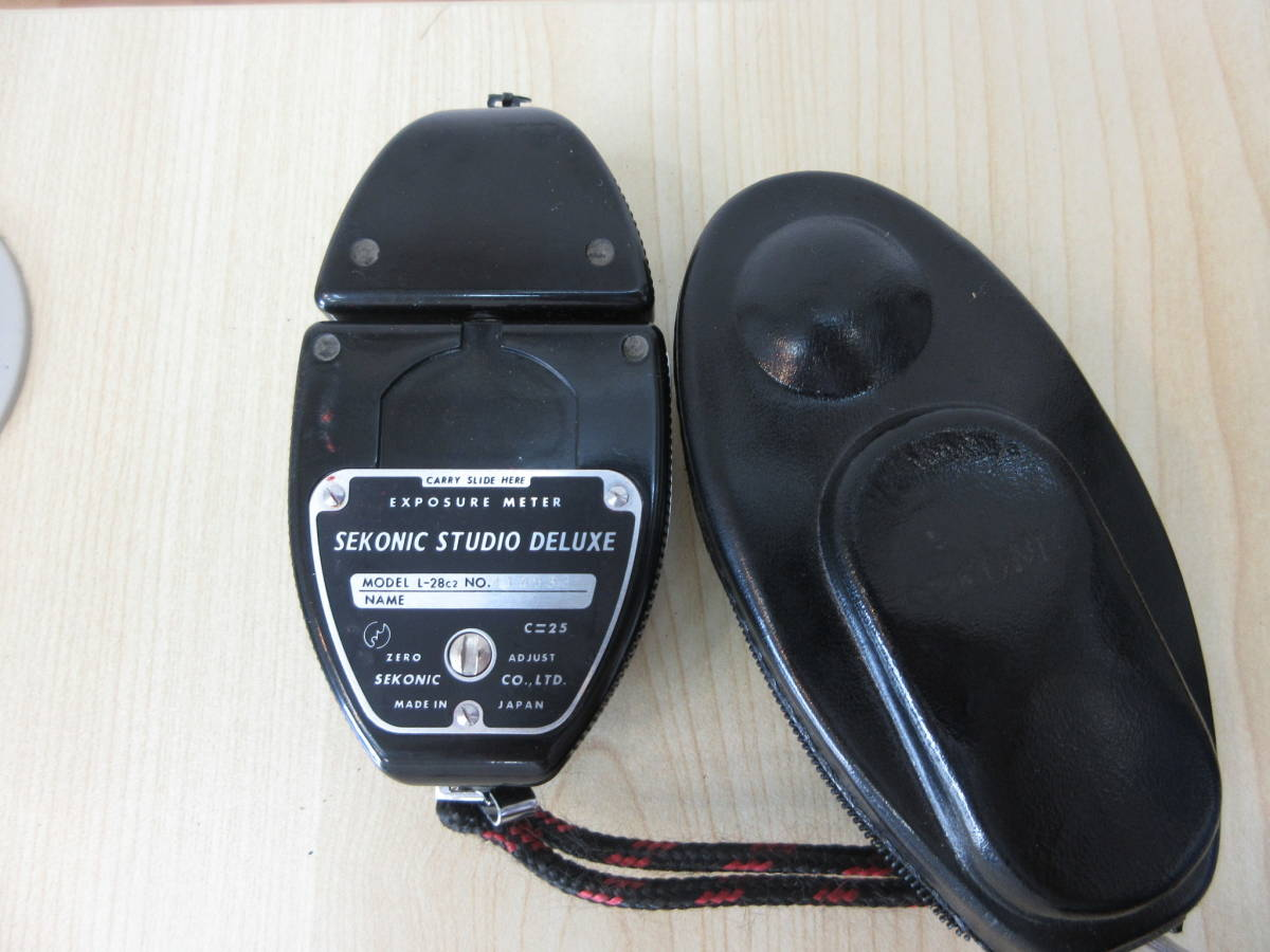 10231 SEKONIC STUDIO DELUXE 露出計 EXPOSURE METER MODEL L-28C2 カメラ用品 アクセサリー 動作未確認_画像4