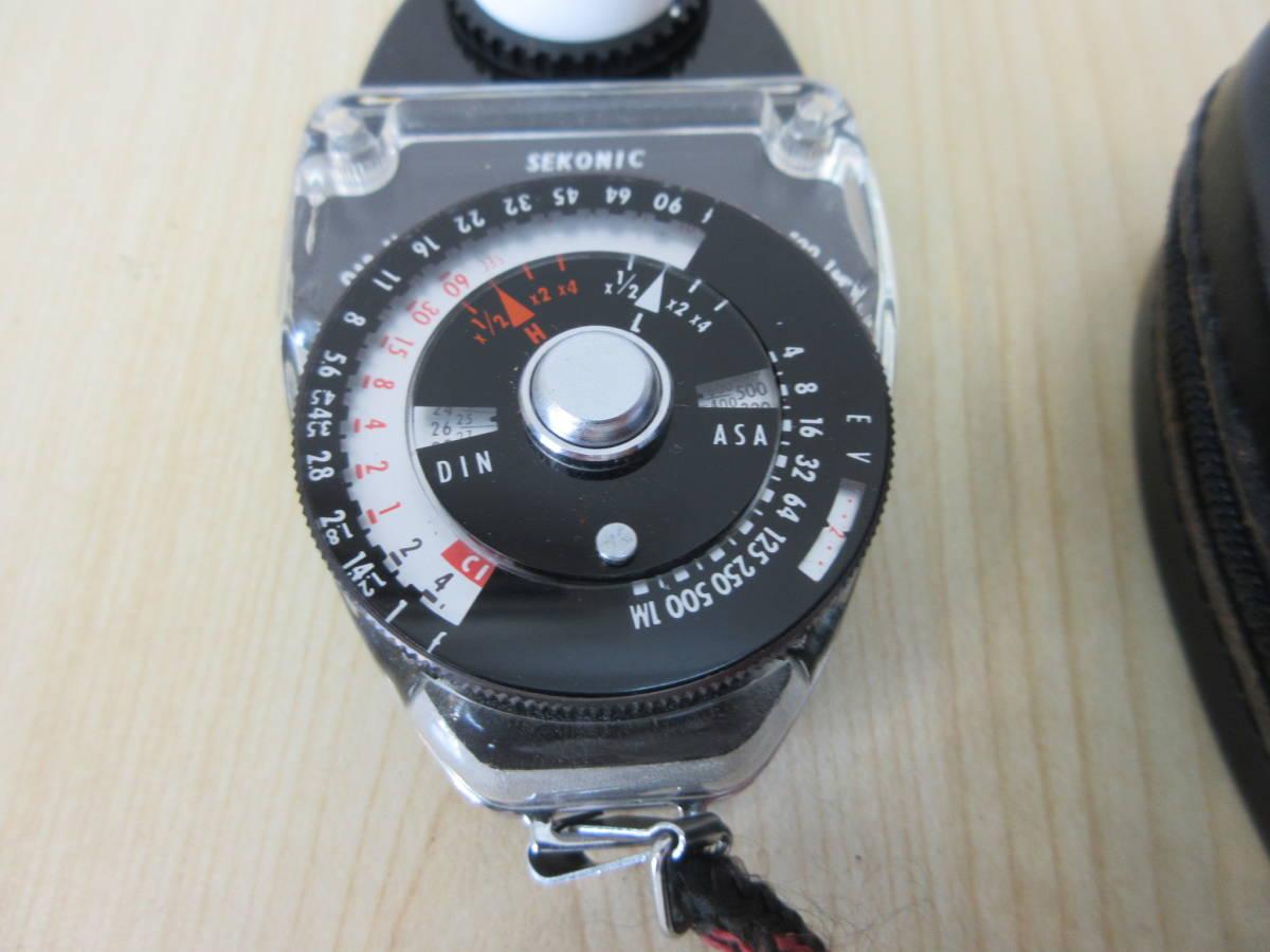 10231 SEKONIC STUDIO DELUXE 露出計 EXPOSURE METER MODEL L-28C2 カメラ用品 アクセサリー 動作未確認_画像2