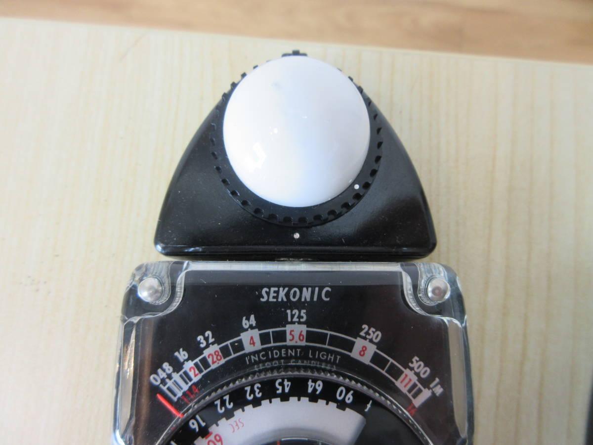 10231 SEKONIC STUDIO DELUXE 露出計 EXPOSURE METER MODEL L-28C2 カメラ用品 アクセサリー 動作未確認_画像3