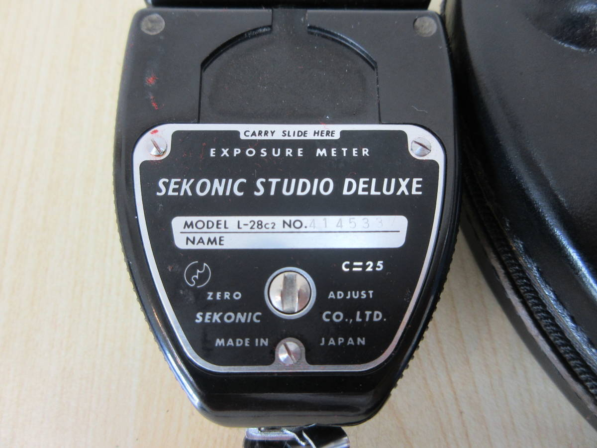 10231 SEKONIC STUDIO DELUXE 露出計 EXPOSURE METER MODEL L-28C2 カメラ用品 アクセサリー 動作未確認_画像5