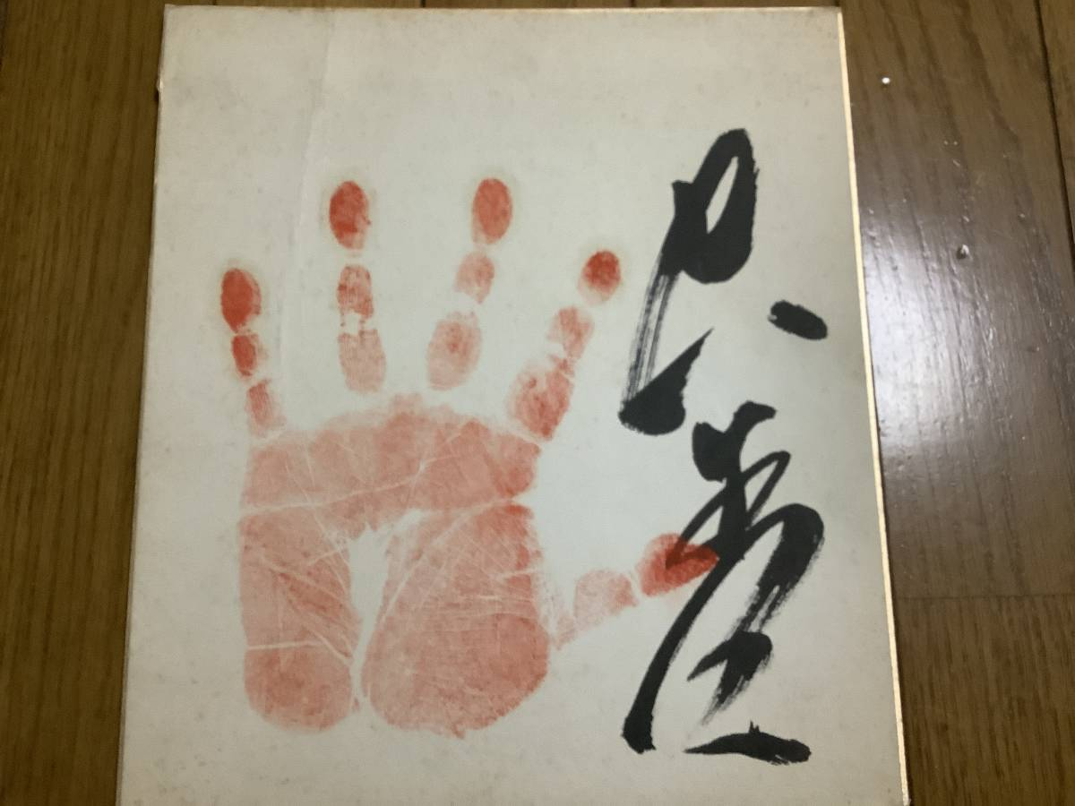 元大相撲力士「大至」直筆サイン手形_画像9