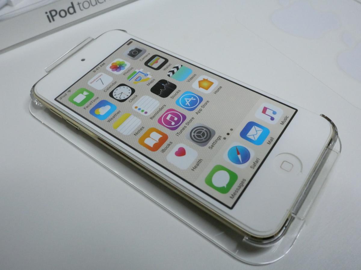 ⑤1円~ 未使用品 アップル iPod touch 第6世代 32GB ゴールド MKHX2J/A USB電源付
