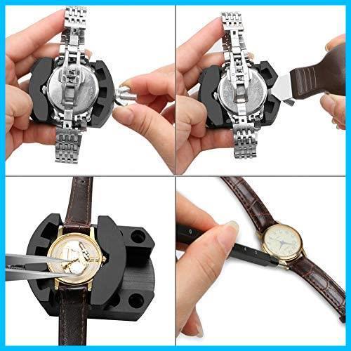 【大幅値引き】 バンド調整 腕時計ベルト調整 腕時計修理工具 電池交換 時計道具セット 時計用工具キット 収納ケース付き 時計工具_画像5