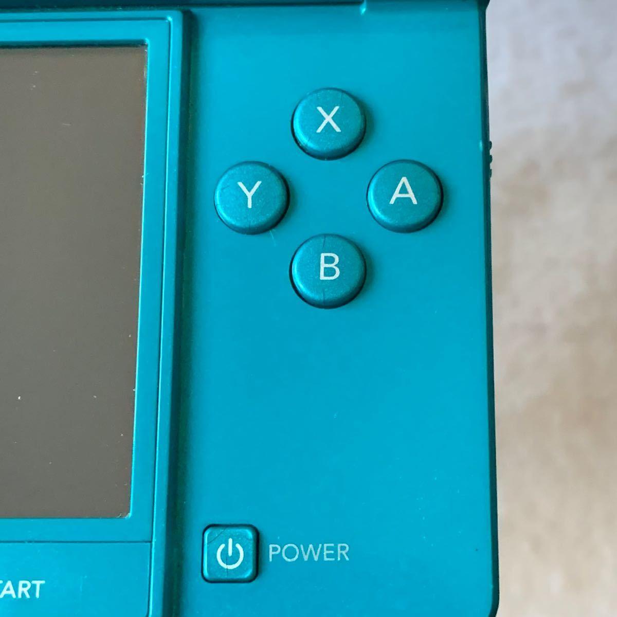 ニンテンドー 3DS アクアブルー 本体 充電器 セット 0221