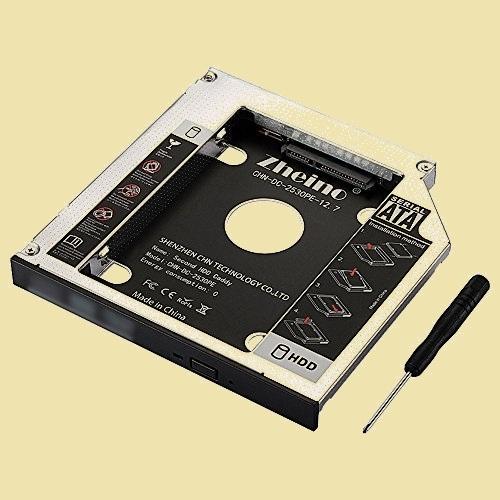新品 未使用 2nd Zheino 2-LS CADDY に置き換えます 12.7mmノ-トPCドライブマウンタ セカンド 光学ドライブベイ用_画像1