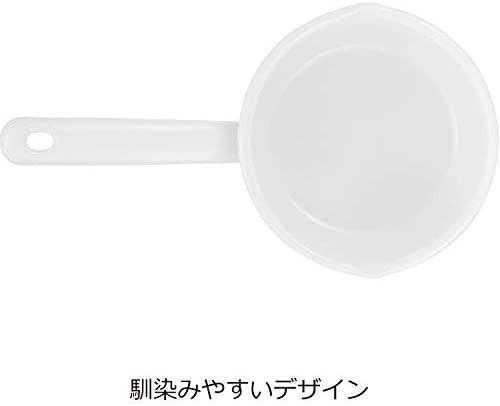 未使用☆日々道具 野田琺瑯 片手鍋 ミルクパン ガス火専用 日本製 ホワイト 12cm YN-M12