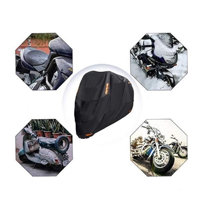 風飛び防止 バイクカバー 中大型 防塵 防水耐熱 雨対策 収納袋付き 3XL_画像4