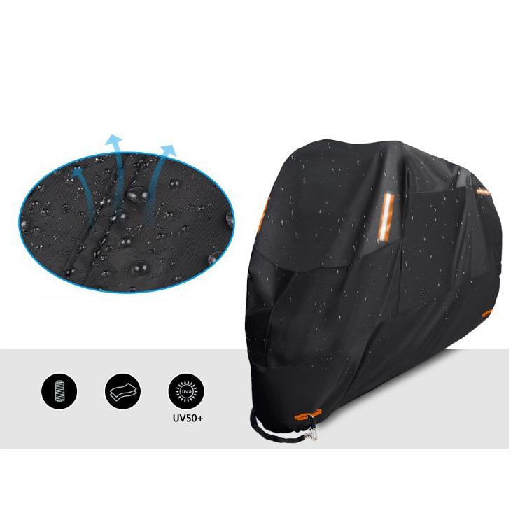 風飛び防止 バイクカバー 中大型 防塵 防水耐熱 雨対策 収納袋付き 3XL_画像5