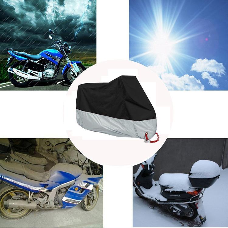 風飛び防止 バイクカバー 中大型 防塵 防水耐熱 雨対策 収納袋付き 3XL_画像2