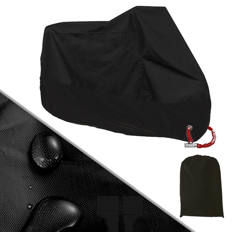 風飛び防止 バイクカバー 中大型 防塵 防水耐熱 雨対策 収納袋付き 3XL_画像1