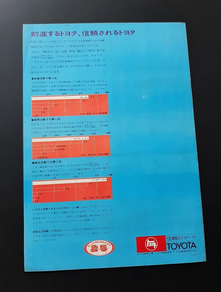 トヨタ 2000GT 古い トヨタ 製品案内 乗用車 ラインナップカタログ 昭和40年代 当時品!☆ スポーツ800 パブリカ カローラ 旧車カタログ_画像10
