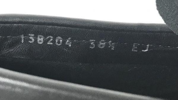 θ GUCCI グッチ ドライビング シューズ ローファー バンブー 竹 革 38ハーフ ゴールド ブラック 138204 本体のみ S79949989932