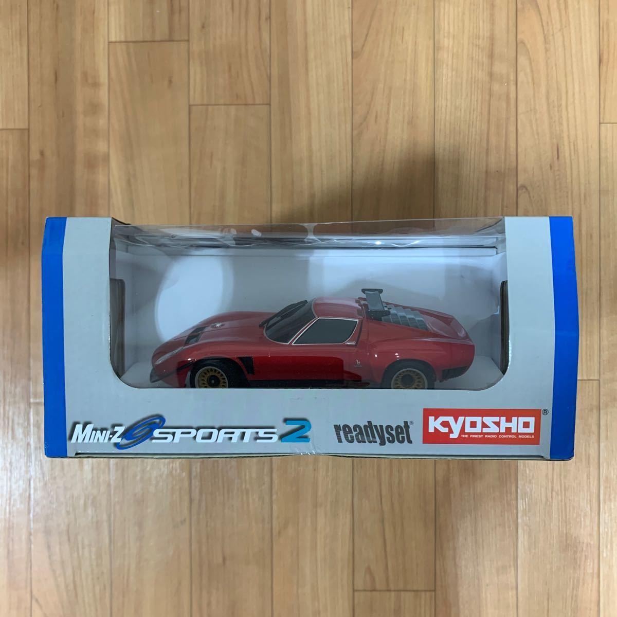 京商 1/27ミニッツMR-03 スポーツ2 ランボルギーニ イオタ SVR レッド 2.4GHz塗装済み完成 ラジコンセット