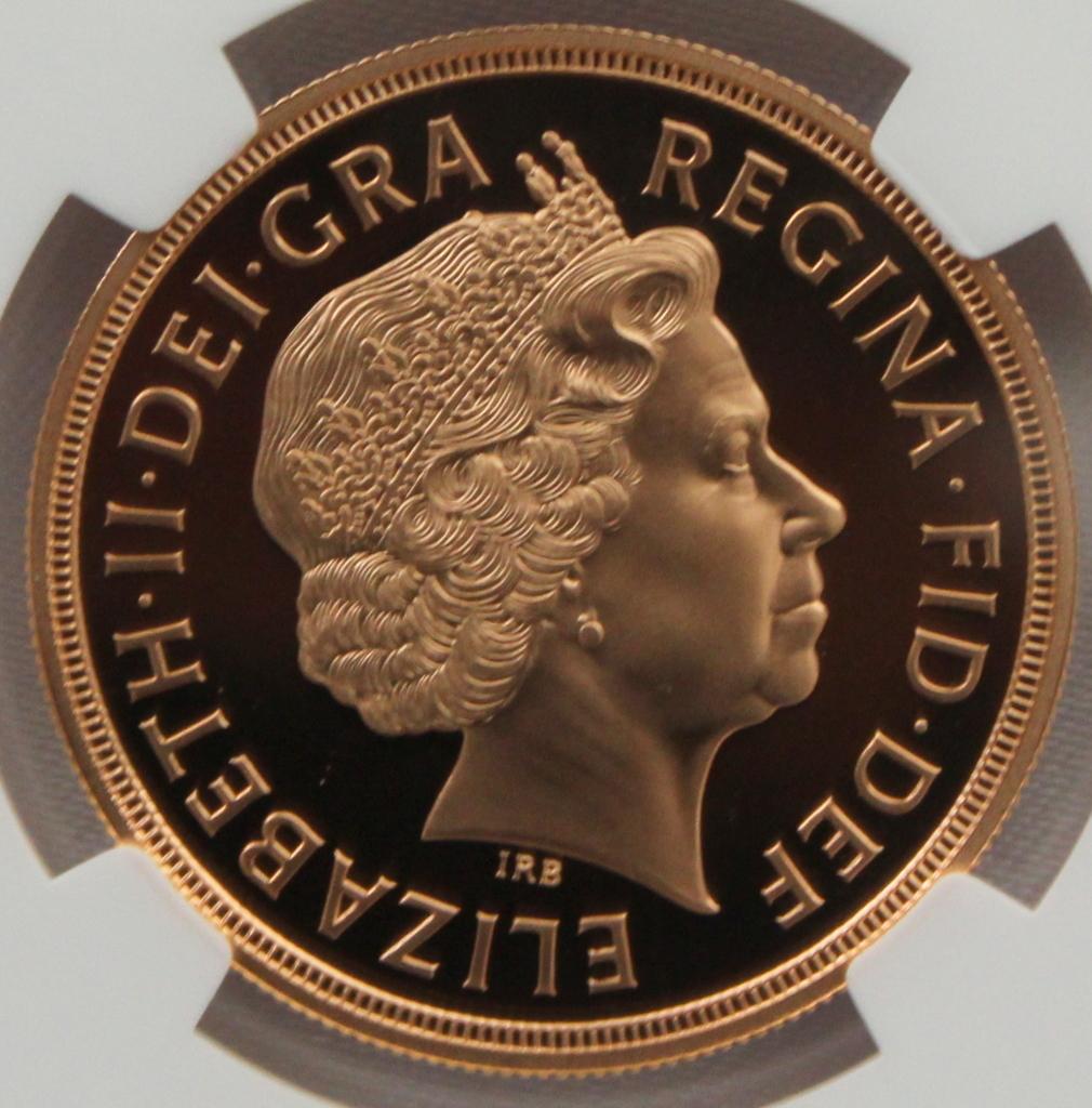 2012 イギリス ダイヤモンドジュビリー戴冠60周年記念 5ポンド 金貨 NGC PF70UC 最高鑑定品!!_画像2