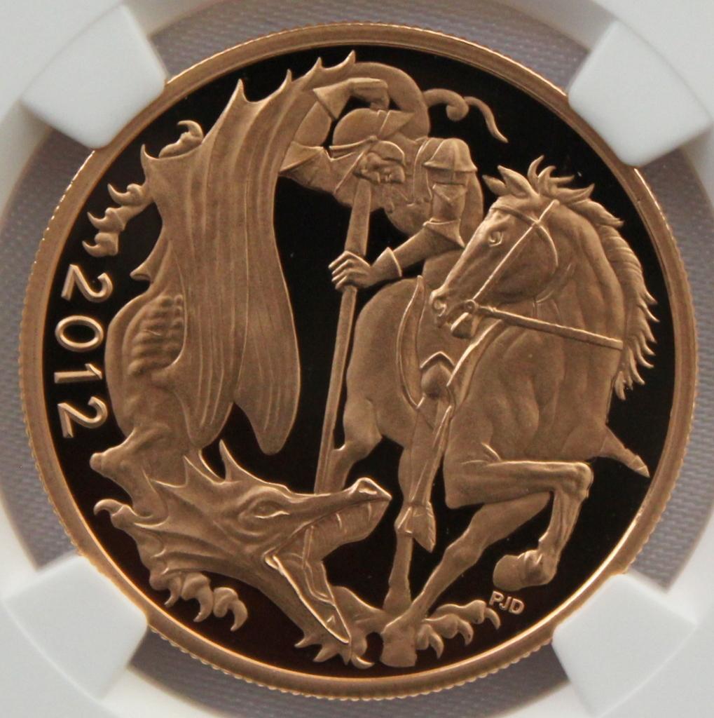 2012 イギリス ダイヤモンドジュビリー戴冠60周年記念 5ポンド 金貨 NGC PF70UC 最高鑑定品!!_画像1