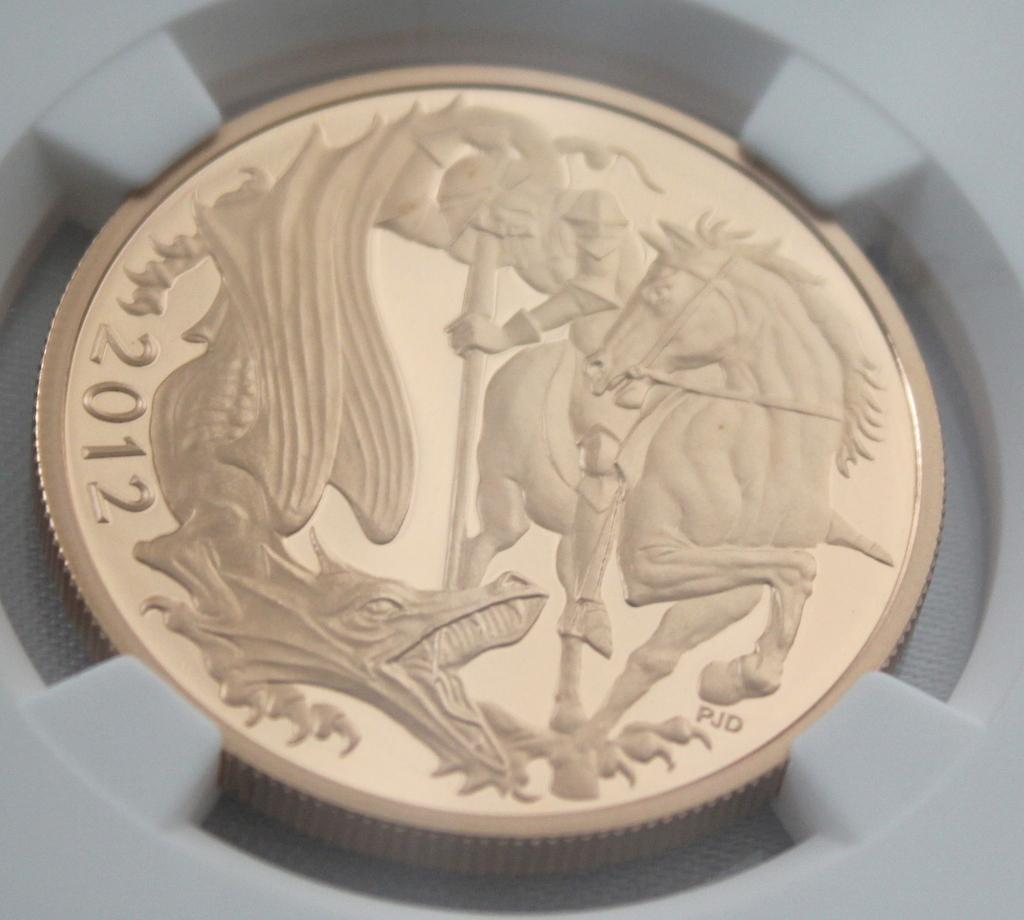 2012 イギリス ダイヤモンドジュビリー戴冠60周年記念 5ポンド 金貨 NGC PF70UC 最高鑑定品!!_画像5