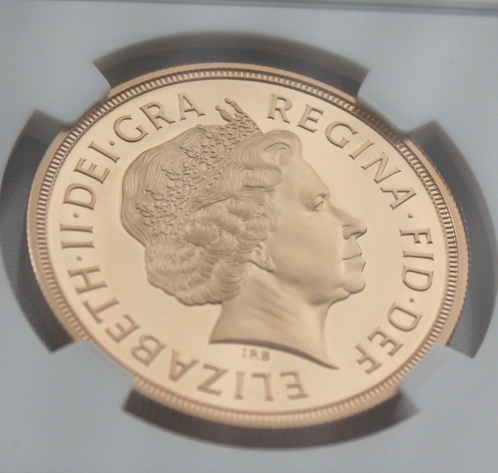2012 イギリス ダイヤモンドジュビリー戴冠60周年記念 5ポンド 金貨 NGC PF70UC 最高鑑定品!!_画像8