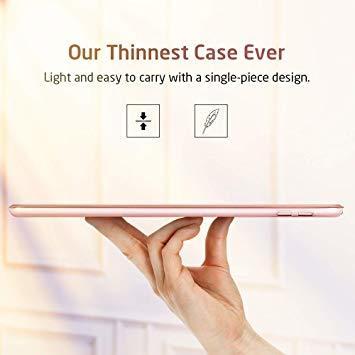 ローズゴール ESR iPad Mini 5 2019 ケース 軽量 薄型 PU レザー スマート カバー 耐衝撃 傷防止 クリ_画像4