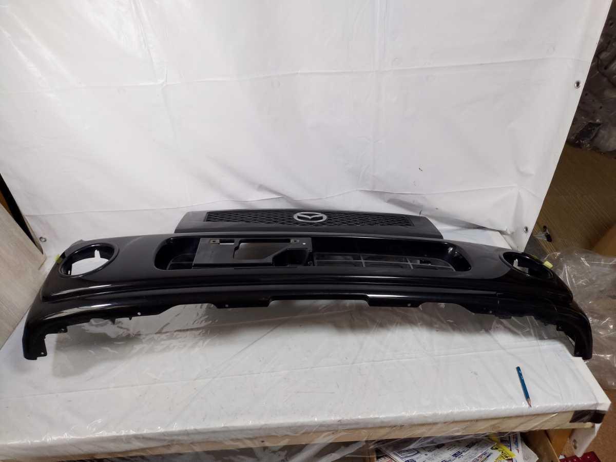 100配達先条件有 HF21S スピアーノ フロント バンパー 黒 ZJ3 ブラック HE21S アルト ラパン_画像6