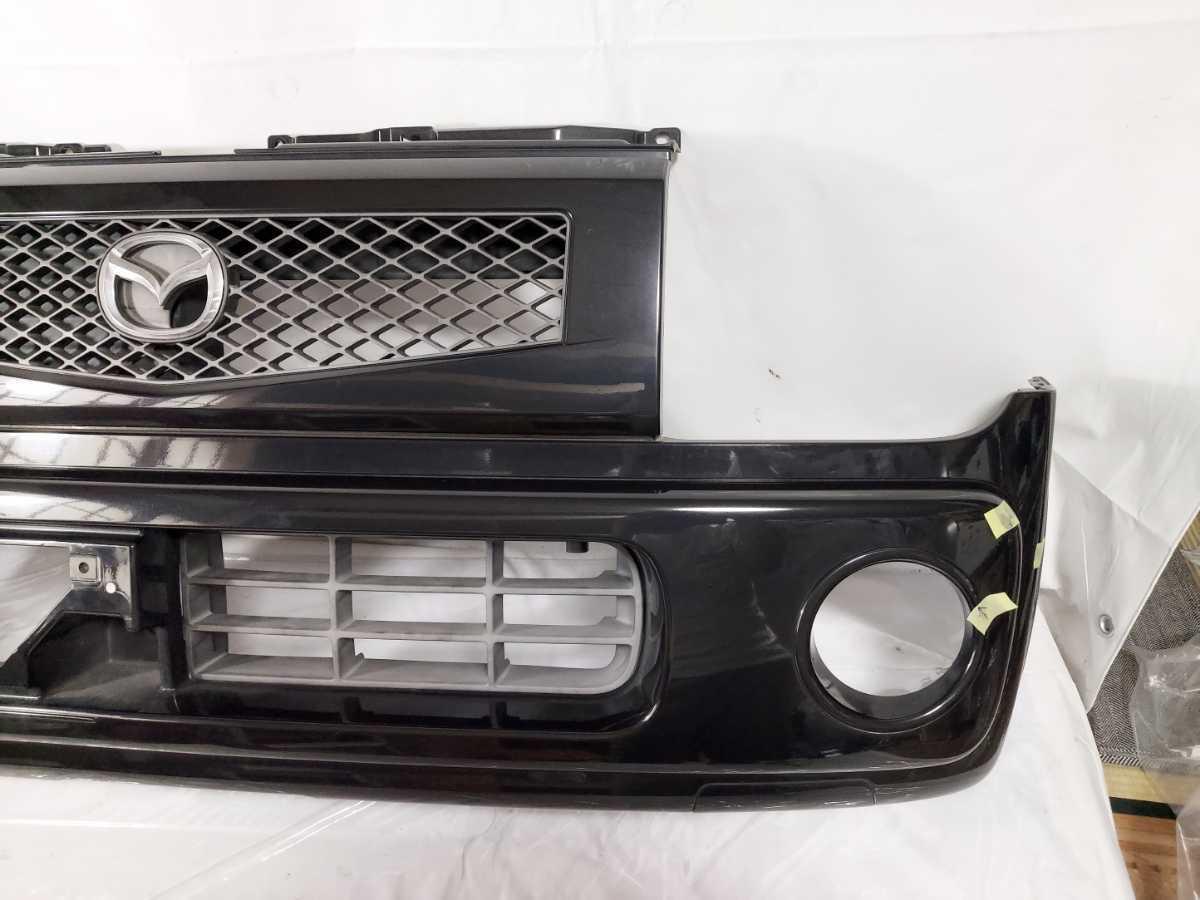 100配達先条件有 HF21S スピアーノ フロント バンパー 黒 ZJ3 ブラック HE21S アルト ラパン_画像3