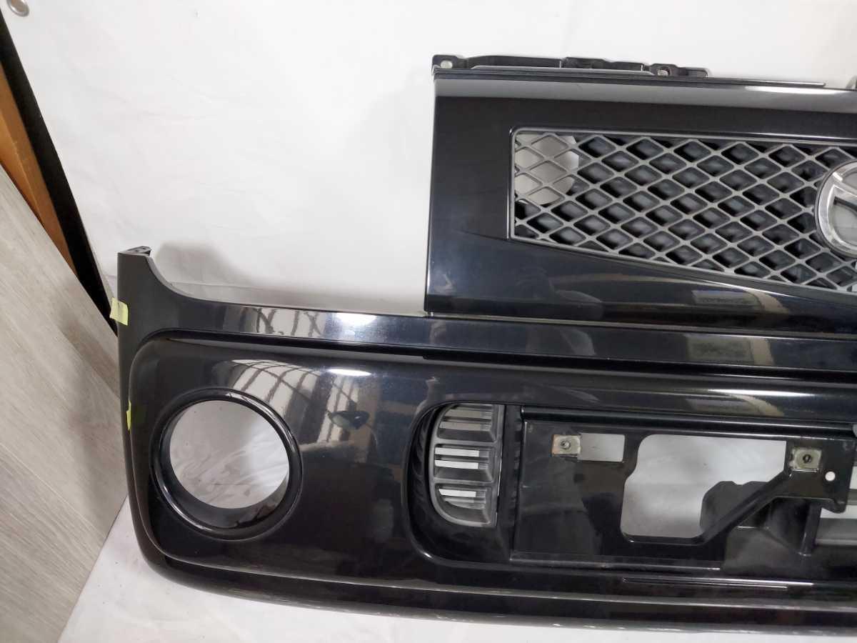 100配達先条件有 HF21S スピアーノ フロント バンパー 黒 ZJ3 ブラック HE21S アルト ラパン_画像2
