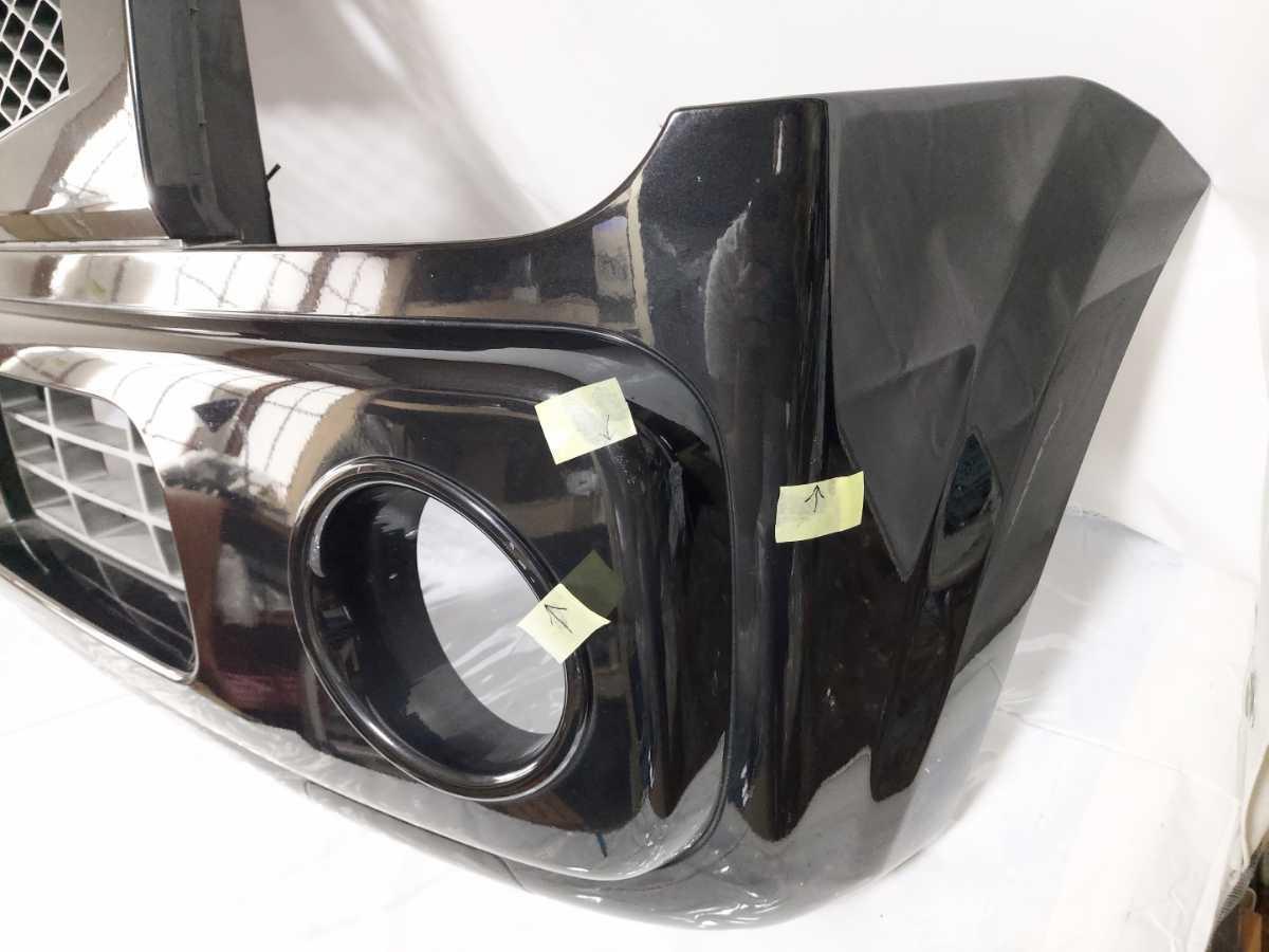 100配達先条件有 HF21S スピアーノ フロント バンパー 黒 ZJ3 ブラック HE21S アルト ラパン_画像4
