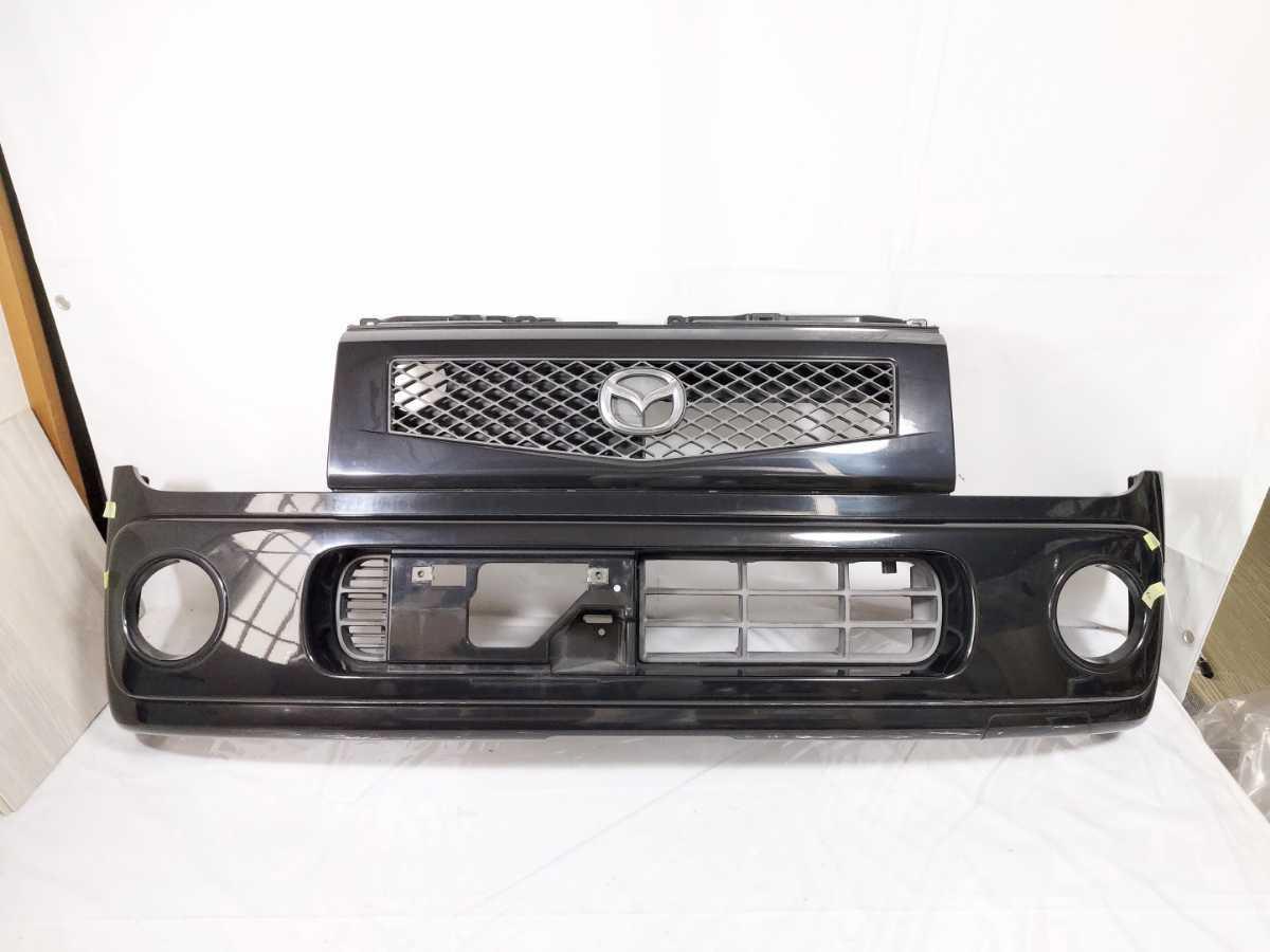 100配達先条件有 HF21S スピアーノ フロント バンパー 黒 ZJ3 ブラック HE21S アルト ラパン_画像1