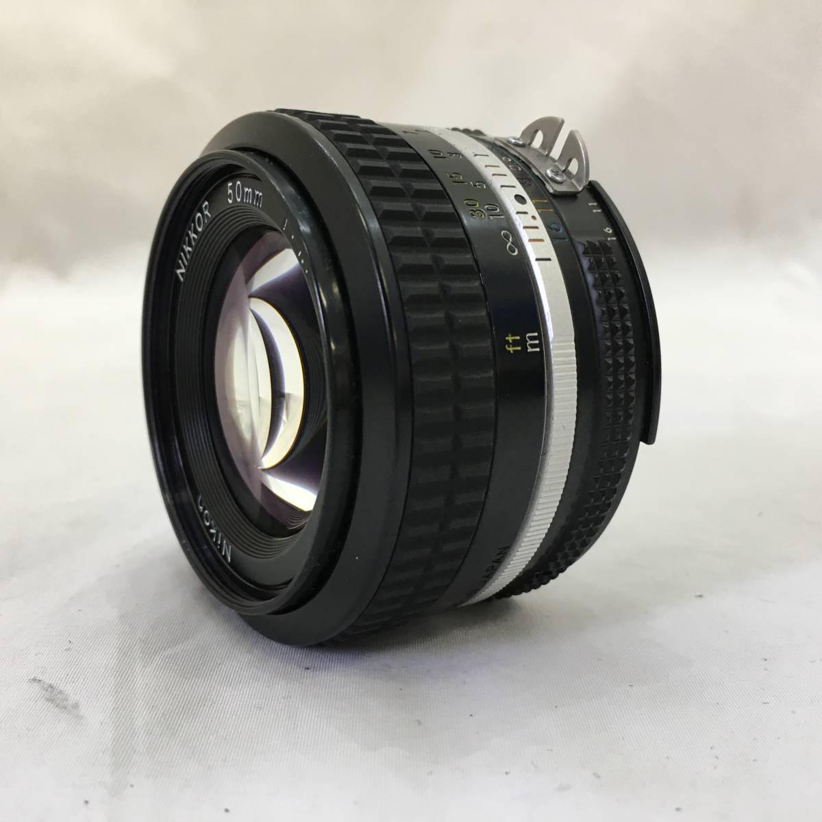 【949753】カメラレンズ Nikon NIKKOR 1:1.4 50㎜ 動作未確認 傷汚れあり