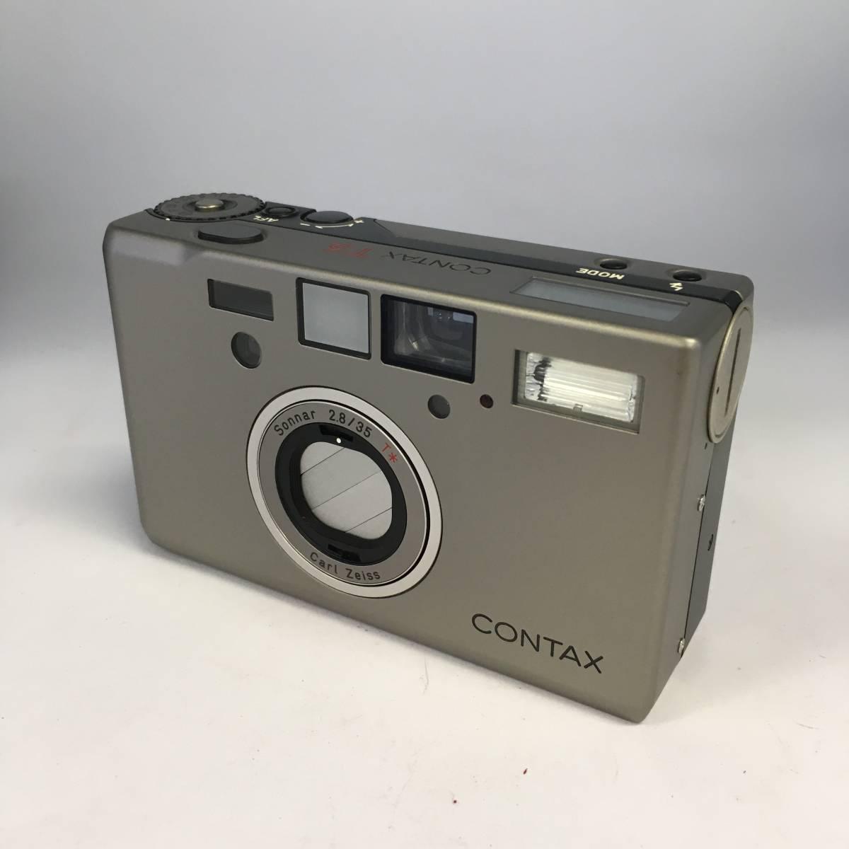 【978942】コンタックス CONTAX T3 Sonnar2.8/35 Carl Zeiss ケース付き 通電確認済 動作未確認