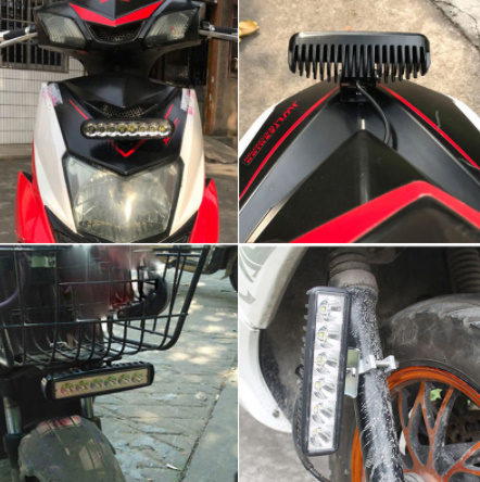 モーターサイクルLEDヘッドライト ペアモトクロス ATVダートバイク デイタイムランニングスポットライト フォグランプ_画像5