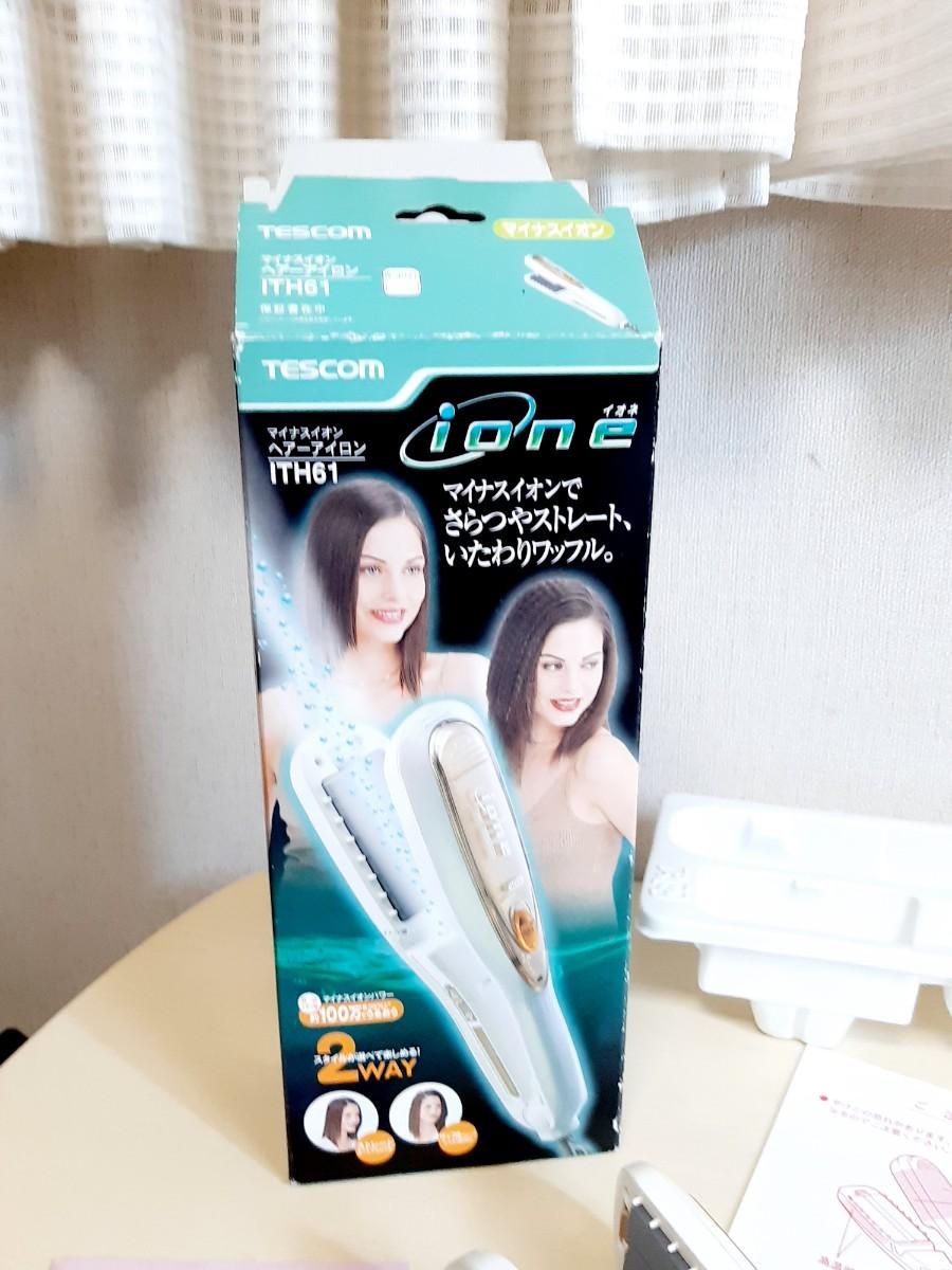 TESCOM ITH61Wマイナスイオンヘアーアイロン ほぼ新品