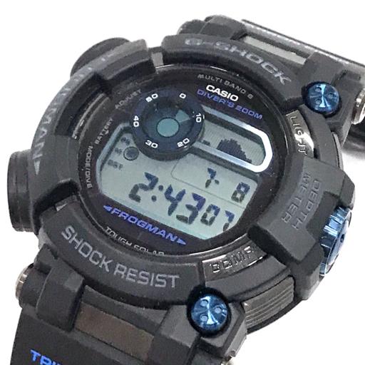 1円 新品同様 カシオ 電波 腕時計 G-SHOCK MASTER OF G FROGMAN GWF-D1000B-1JF タフソーラー メンズ 稼働 付属品有