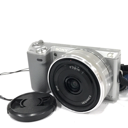 SONY NEX-5N SEL16F28 E 2.8/16 ミラーレス一眼 カメラ レンズ C1995