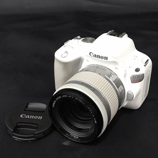 1円 CANON EOS Kiss X9 ホワイト EF-S 18-55mm 1:4-5.6 IS STM デジタル一眼 カメラ レンズ C2029