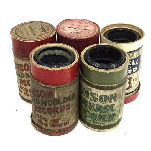 1円 蝋管 4本 エジソン 蓄音機 アンティーク レトロ コレクション