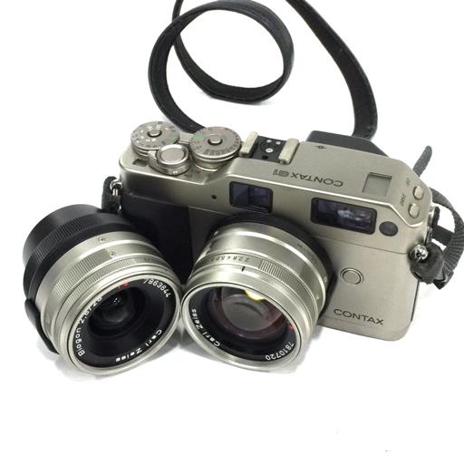 1円 CONTAX G1 レンジファインダー ボディ Carl Zeiss Planar 2/45 T* Biogon 2.8/28 T* レンズ コンタックス