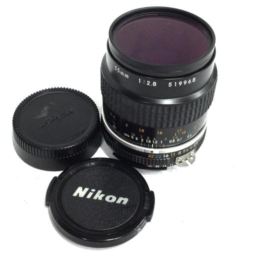 1円 Nikon Micro-NIKKOR 55mm 1:2.8 マニュアルフォーカス カメラ レンズ ニコン