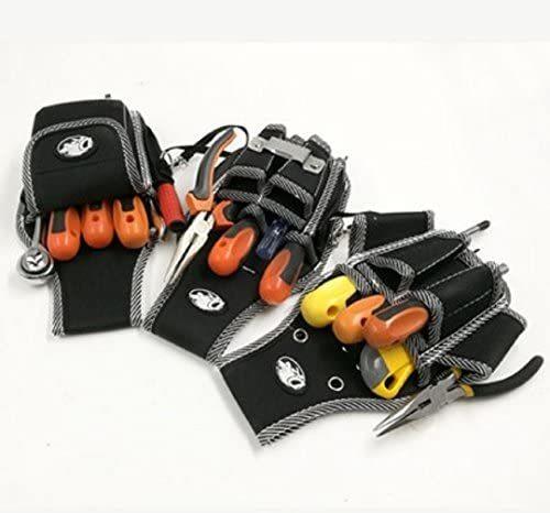 【即日配送】 電工用 作業効率の良い機能設計 工具差し 大工 工具袋 ポーチ腰袋 ベルトポーチ 工具用ウエストバッグ ツールバッグ_画像3