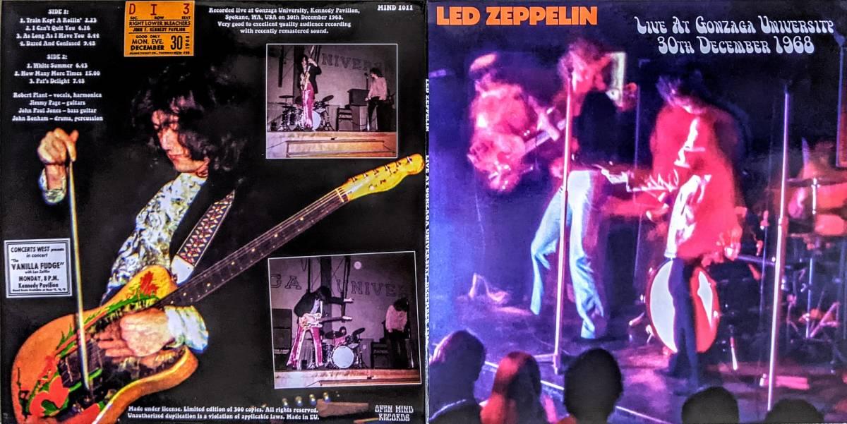 Led Zeppelin レッド・ツェッペリン - Live At Gonzaga University 30th December 1968 300枚限定アナログ・レコード