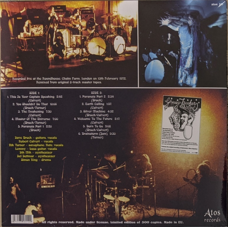 Hawkwind ホークウインド - Greasy Truckers Party (Live At The Roundhouse February 1972) 500枚限定アナログ・レコード