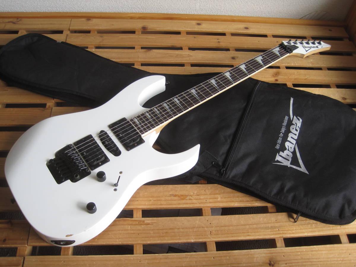 Ibanez(アイバニーズ)RG370DXZ 白系★Edge-ZeroⅡ(ゼロポイント)トレモロ HSHストラトタイプエレキギター 中古品 純正ソフトケース付