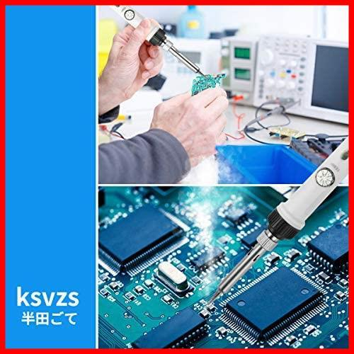 【特価】 外観改良 DIY作業に最適 電子工作用 温度調節可能(220~450℃)ハンダゴテ 110V G1047 60W 9-in-1はんだこて Ksvzsキスワス_画像6