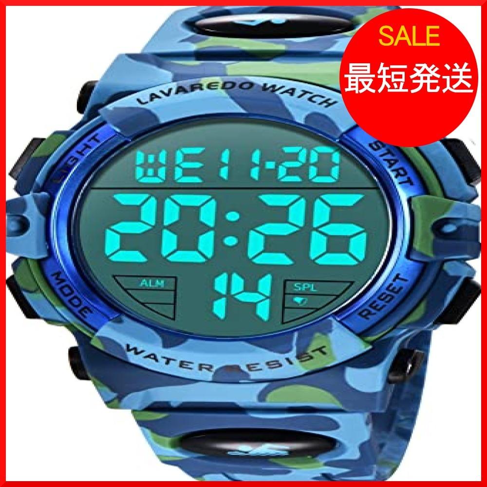 【在庫限り】 ブルー スポーツ デジタル 50メートル防水 おしゃれ メンズ T3PTU 多機能 腕時計 LED表示 アウトドア_画像1
