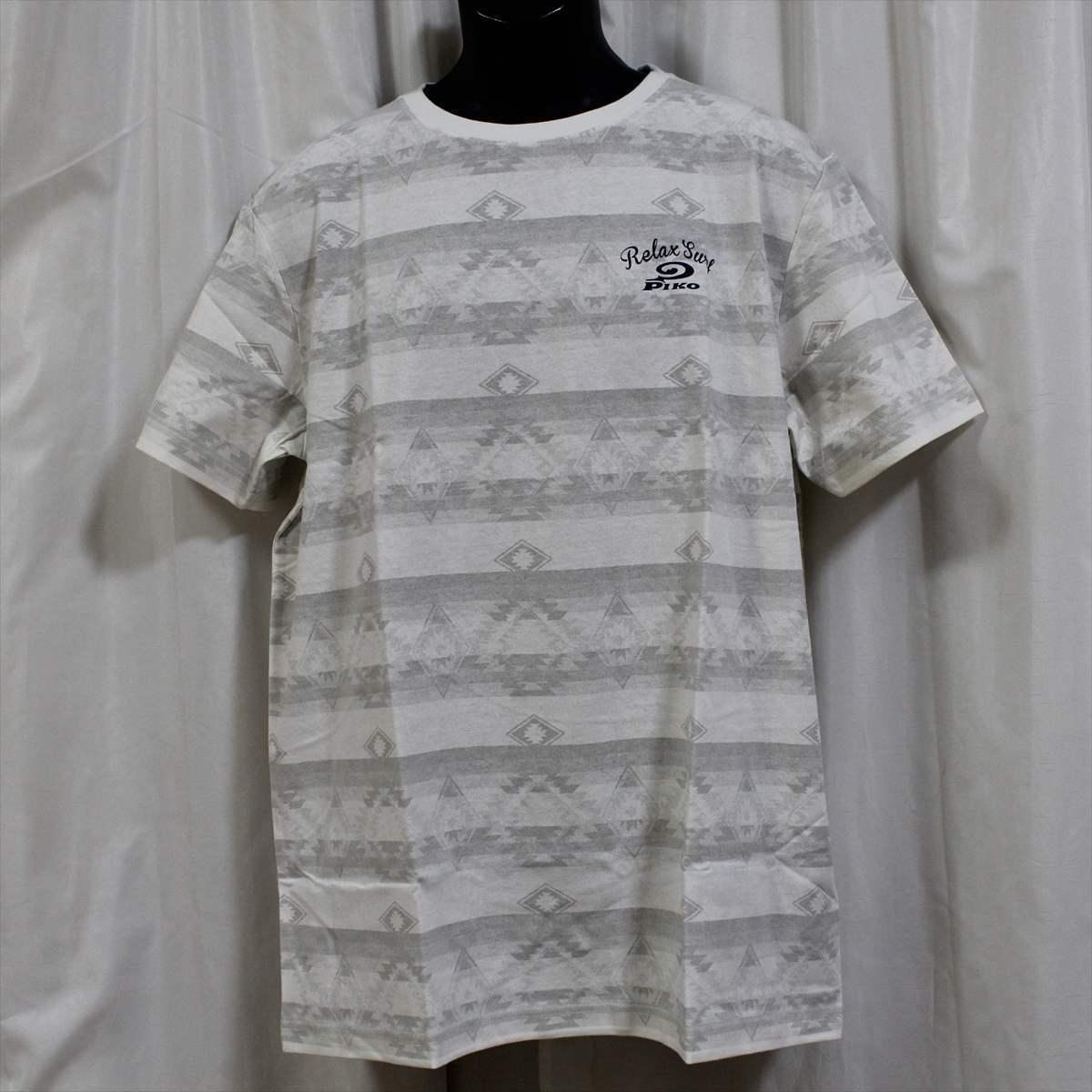ピコ PIKO メンズ半袖Tシャツ ホワイト XLサイズ 新品 白_画像1