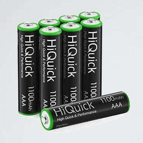 新品 好評 電池 HiQuick 6-QL 充電式 単四充電池セット 単4 充電式 単4充電池 ニッケル水素電池1100mAh 8本入り ケ-ス2個付き_画像1