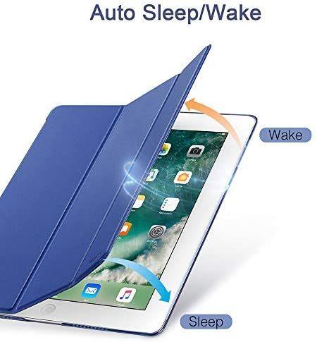 ESR iPad Mini 5 2019 ケース 軽量 薄型 スマート カバー 耐衝撃 傷防止 クリア ハード 背面 ケース 三つ折り スタンド オートスリープ_画像2